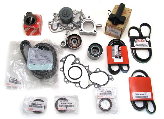 15 piece 3 4l engine timing belt kit water pump genuine oe rh ebay com toyota timing belt kit price toyota 4.7 timing belt kit