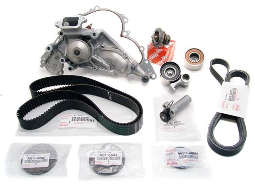 Plete Timing Belt Water Pump Kit V8 47 Genuine Oe