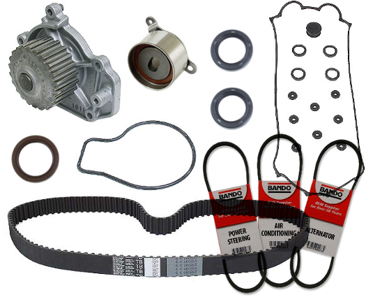 This Is Our Premium 24 Piece Timing Belt Kit For Civic 1.6L. It Includes  Everything You Need To Properly Service Your Timing Belt.